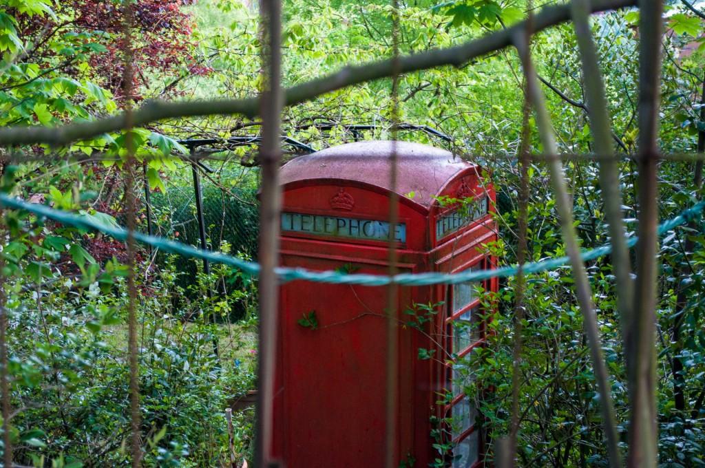 Cabina Telefónica Londres en Monte Artxanda