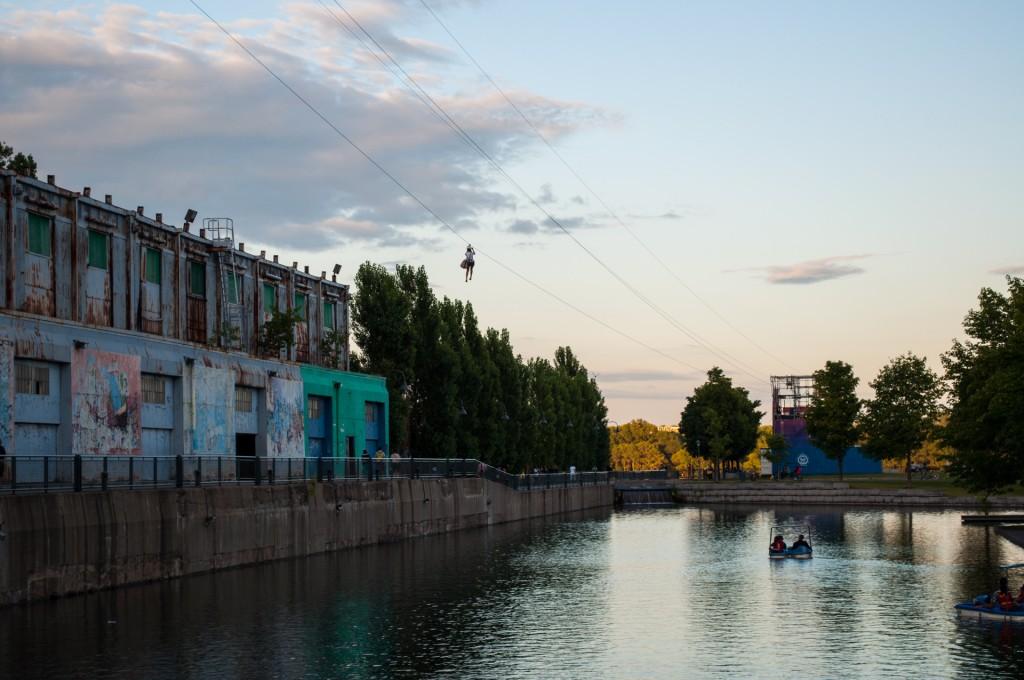 Montreal vieux port zipline